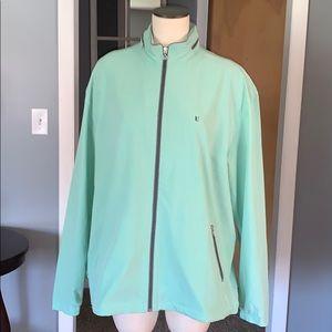 Light green woman's golf jacket XL